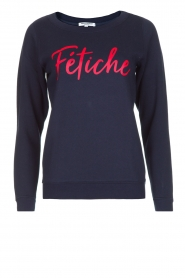 French Disorder | Luxe sweater Fétiche | donkerblauw