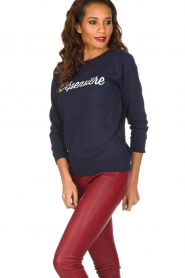 French Disorder   Luxe sweater Dépensière   Donkerblauw    Afbeelding 4