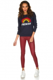 French Disorder | Luxe sweater Frenchy | Donkerblauw  | Afbeelding 3