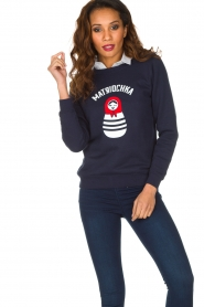 French Disorder |  Luxurious sweater Matriochka | Navy blue  | Picture 2