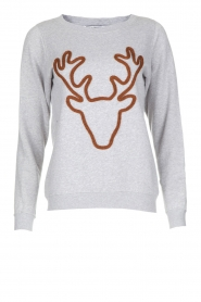French Disorder | Luxe sweater Rudolph | lichtgrijs  | Afbeelding 1