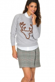 French Disorder | Luxe sweater Rudolph | lichtgrijs  | Afbeelding 2