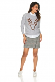 French Disorder | Luxe sweater Rudolph | lichtgrijs  | Afbeelding 3