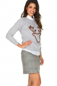 French Disorder | Luxe sweater Rudolph | lichtgrijs  | Afbeelding 5