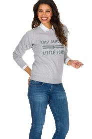 French Disorder | Luxe sweater Tout Schuss à | Lichtgrijs  | Afbeelding 4