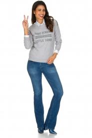 French Disorder | Luxe sweater Tout Schuss à | Lichtgrijs  | Afbeelding 3