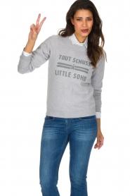 French Disorder | Luxe sweater Tout Schuss à | Lichtgrijs  | Afbeelding 2