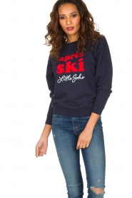 French Disorder | Luxe sweater Après Ski | donkerblauw  | Afbeelding 2