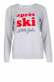 French Disorder   Luxe sweater Après Ski   lichtgrijs    Afbeelding 1