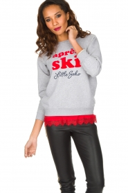 French Disorder   Luxe sweater Après Ski   lichtgrijs    Afbeelding 2