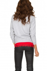 French Disorder | Luxe sweater Après Ski | lichtgrijs  | Afbeelding 5