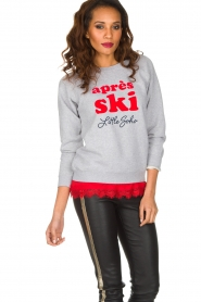 French Disorder | Luxe sweater Après Ski | lichtgrijs  | Afbeelding 4