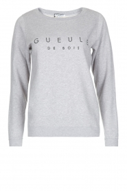 French Disorder | Luxe sweater Gueule De Bios | Lichtgrijs  | Afbeelding 1