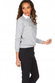 French Disorder   Luxe sweater Gueule De Bios   Lichtgrijs    Afbeelding 4