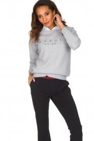 French Disorder   Luxe sweater Gueule De Bios   Lichtgrijs    Afbeelding 2