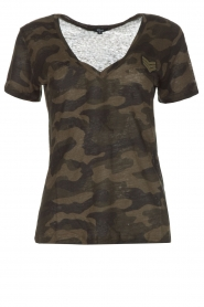 T-shirt Military Camo Cara | legergroen