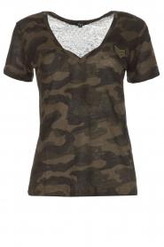 RAILS | T-shirt Military Camo Cara | legergroen  | Afbeelding 1