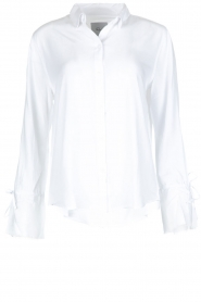 RAILS |  Blouse with tied trumpet sleeves Astrid White | white  | Picture 1