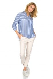 RAILS | Gestreepte blouse Aly Hermosa Stripe | blauw  | Afbeelding 4