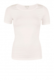 Hanro | T-shirt soft touch | off-white  | Afbeelding 1