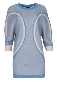 ELISABETTA FRANCHI |  Fine knitted sweater Rosia | Blue  | Picture 1