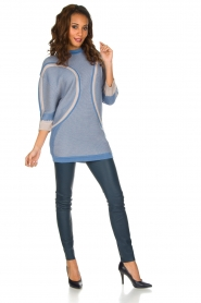 ELISABETTA FRANCHI |  Fine knitted sweater Rosia | Blue  | Picture 3