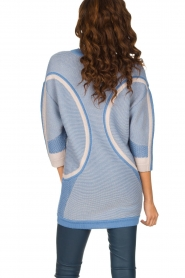 ELISABETTA FRANCHI |  Fine knitted sweater Rosia | Blue  | Picture 5