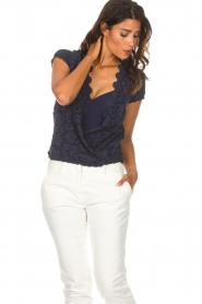 Rosemunde |  Lace top Delicia | blue  | Picture 4
