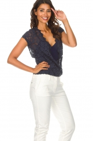 Rosemunde |  Lace top Delicia | blue  | Picture 5