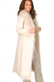 ELISABETTA FRANCHI | Tweezijdige faux fur jas Franca | Naturel  | Afbeelding 7