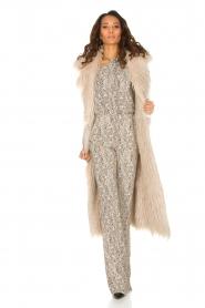 ELISABETTA FRANCHI | Tweezijdige faux fur jas Franca | Naturel  | Afbeelding 3