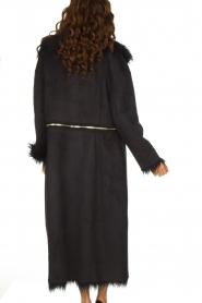 ELISABETTA FRANCHI | Tweezijdige faux fur jas Franca | Zwart  | Afbeelding 6