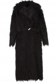 ELISABETTA FRANCHI | Tweezijdige faux fur jas Franca | Zwart  | Afbeelding 7