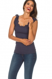 Rosemunde   Zijden top Samira   blauw    Afbeelding 4