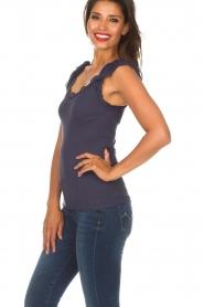 Rosemunde   Zijden top Samira   blauw    Afbeelding 5