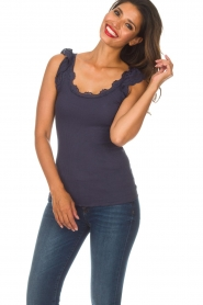 Rosemunde   Zijden top Samira   blauw    Afbeelding 3