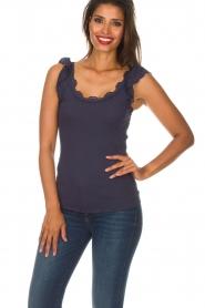Rosemunde   Zijden top Samira   blauw    Afbeelding 2