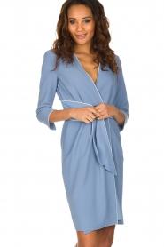 ELISABETTA FRANCHI | Overslag jurk Eloise | Blauw  | Afbeelding 2