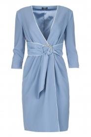 ELISABETTA FRANCHI | Overslag jurk Eloise | Blauw  | Afbeelding 1