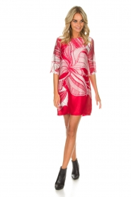 Ana Alcazar |  Silk dress Nairy | red  | Picture 3