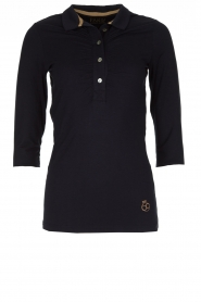 Par 69 |  Golf polo Bean Long | blue  | Picture 1