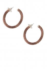 Tembi | Oorbellen van kralen Beaded Small | rosegoud  | Afbeelding 2
