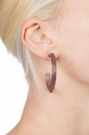 Tembi | Oorbellen van kralen Beaded Small | rosegoud  | Afbeelding 3