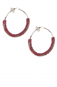 Tembi |  Earrings with beads Beaded Large | red  | Picture 1