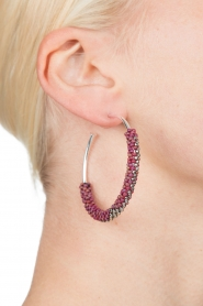 Tembi |  Earrings with beads Beaded Large | red  | Picture 3