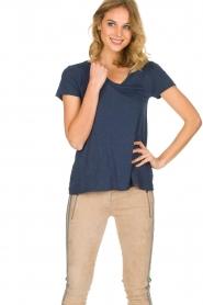 American Vintage | T-shirt Jacksonville | donkerblauw  | Afbeelding 2