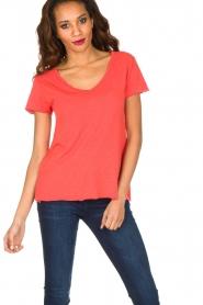 American Vintage | T-shirt Jacksonville | rood  | Afbeelding 2