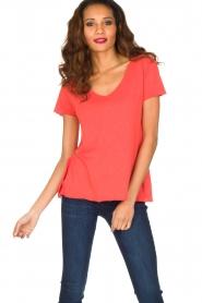 American Vintage | T-shirt Jacksonville | rood  | Afbeelding 3