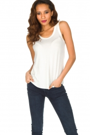 American Vintage | Zachte basic top Tibodo | wit  | Afbeelding 2