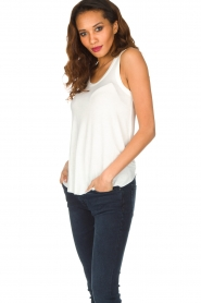 American Vintage | Zachte basic top Tibodo | wit  | Afbeelding 3